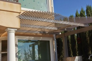 Adjustable Patio Cover over bbq pit